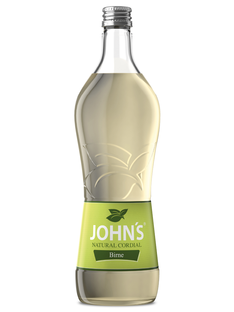 JOHN'S Birne - Fruchtiger Geschmack von sonnengereiften Birnen, aromatisch und süß. Macht die Pear-Kiwi Lemonade zum idealen Erfrischungsgetränk.
