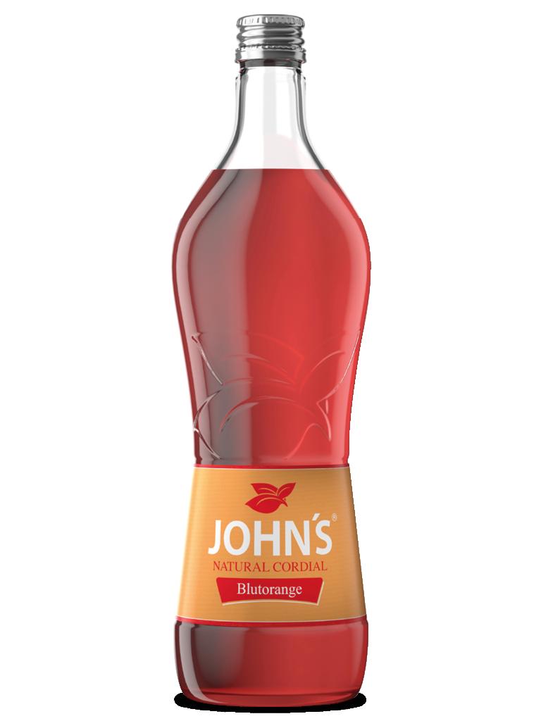 JOHN'S Blutorange - Saftiges Zitrusaroma. Das perfekte Mischverhältnis von süß, sauer und bitter. Ein absolutes Farbhighlight im Blutorangen Gin Tonic.