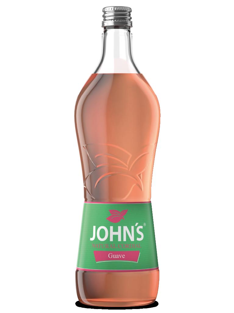 JOHN'S Guave - Mit dem außergewöhnlichen und intensiven Geschmack frischer, reifer Guaven. Eine Geschmacksmischung aus Birne, Feige und Quitte. Sommerlicher Flair im Guave Sunrise.
