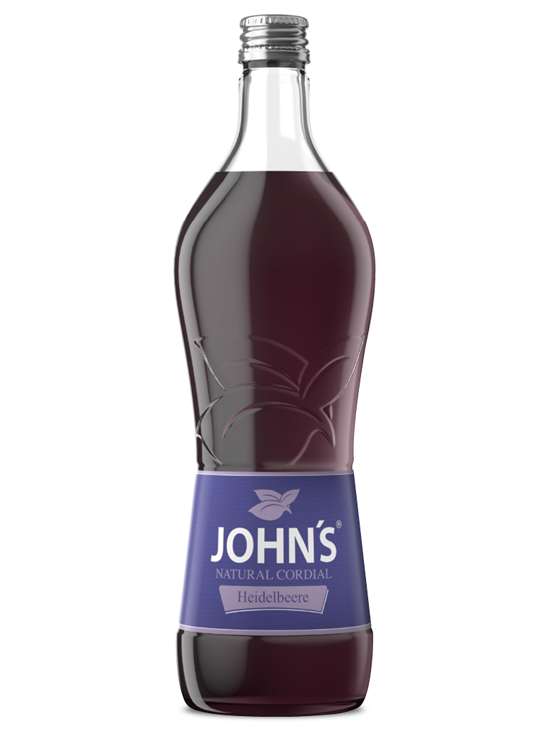 JOHN'S Heidelbeere - Süß-säuerliche Note für fruchtige Drinks. Besonders beliebt im Heidelbeer Daiquiri.