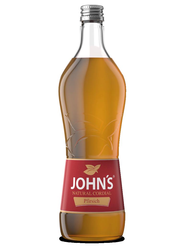 JOHN'S Pfirsich - Fruchtiger und vollmundiger Geschmack von Pfirsichen. Macht die Peach Lemonade zum Durstlöscher.