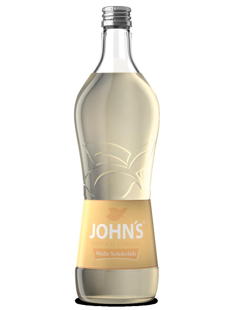 JOHN'S Weiße Schokolade - Eine buttrige Vanillenote vereint mit einem cremigen Kakaogeschmack. Bestens geeignet für den White Iced Latte.