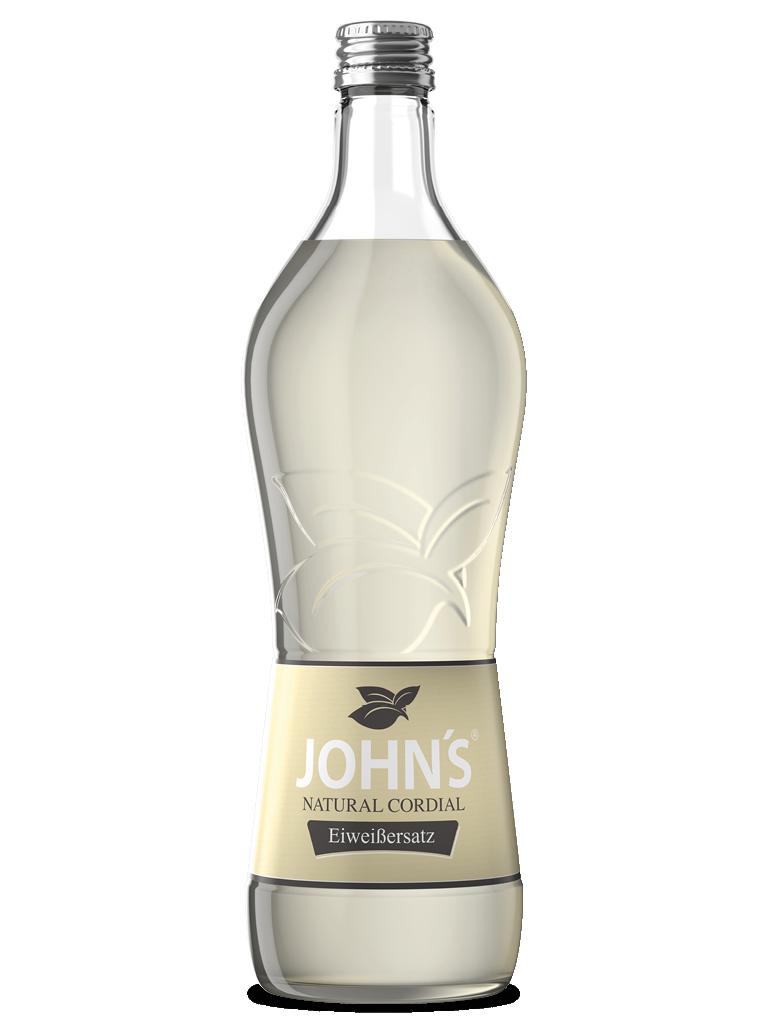 """JOHN'S Eiweißersatz - Die innovative Lösung für das Mixen von Cocktails mit Eiweiß ohne Haltbarkeitsprobleme. Konsistenz und Cremigkeit werden so ideal z.B. in """"Sours"""" gebracht."""